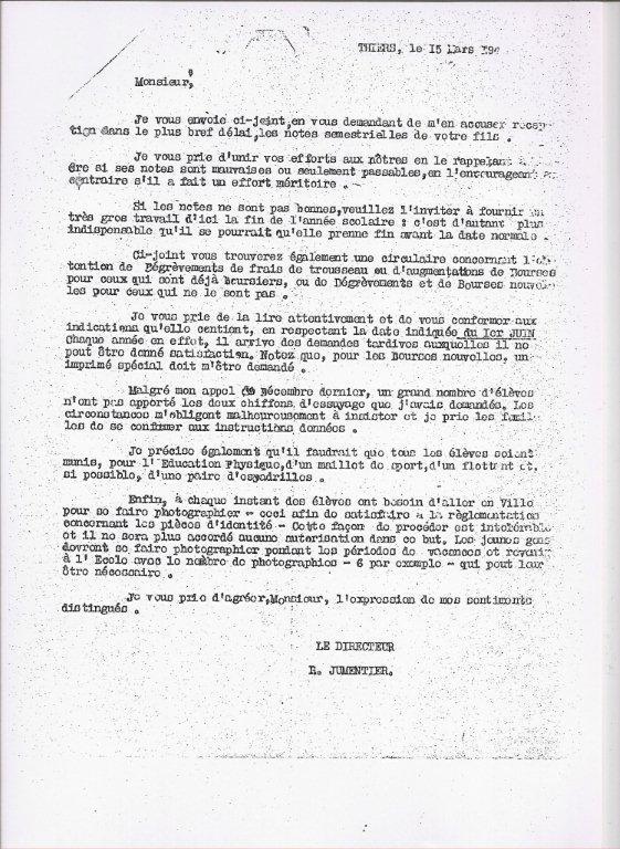 lettre de demission classe prepa Livet Histoire.fr   Être livétien entre 1939 et 1945   Association  lettre de demission classe prepa